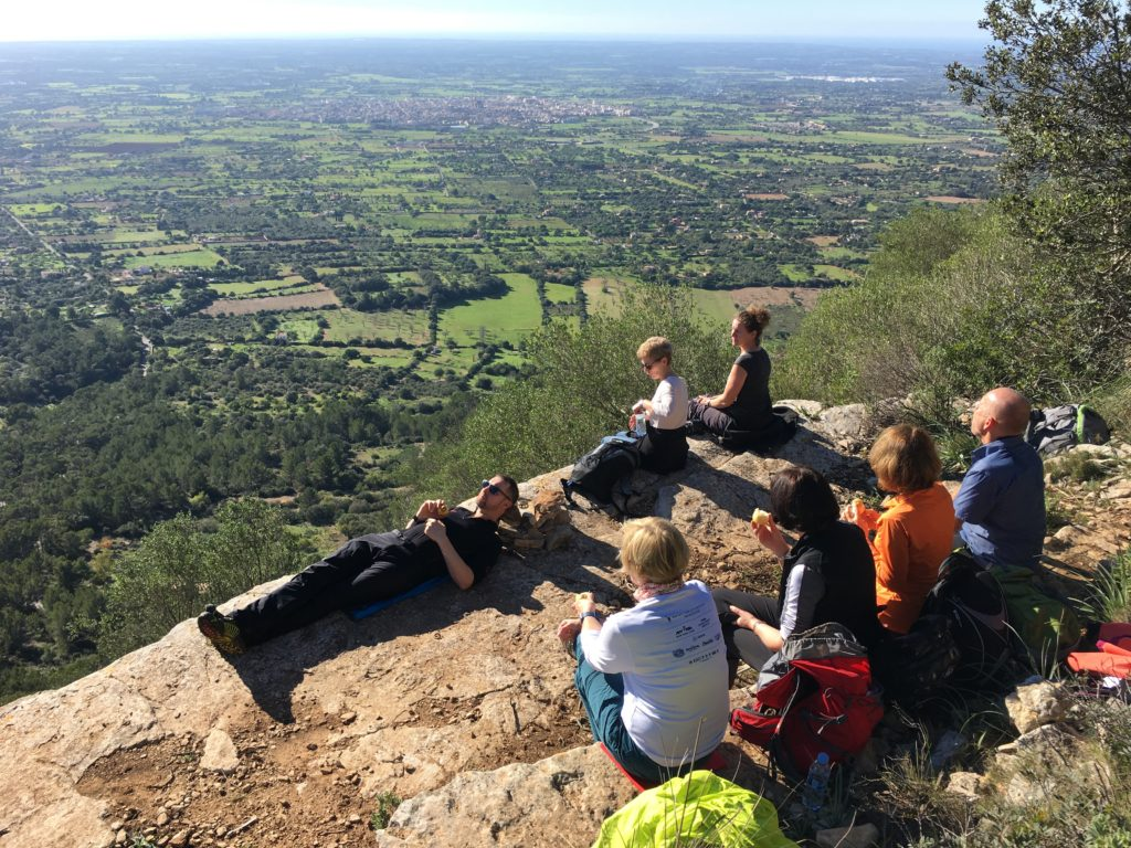 Gipfelrast - Silvester Wanderwoche Mallorca