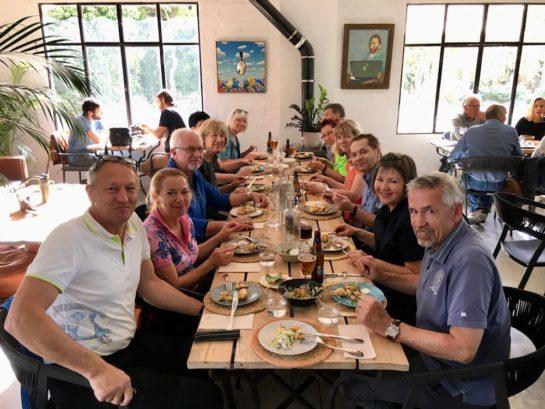 Mittagessen mit der Wandergruppe